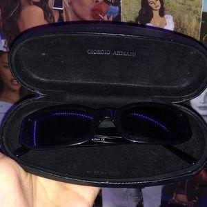 Giorgio Armani Black squared sunglasses